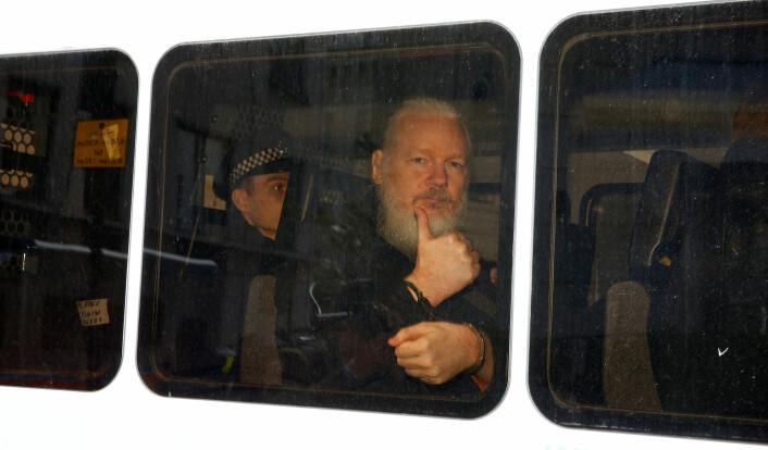 Julian Assange er pressefrihet i lenker