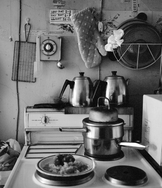 Kjøkkenet til Kåre. Foto: Brian Cliff Olguin