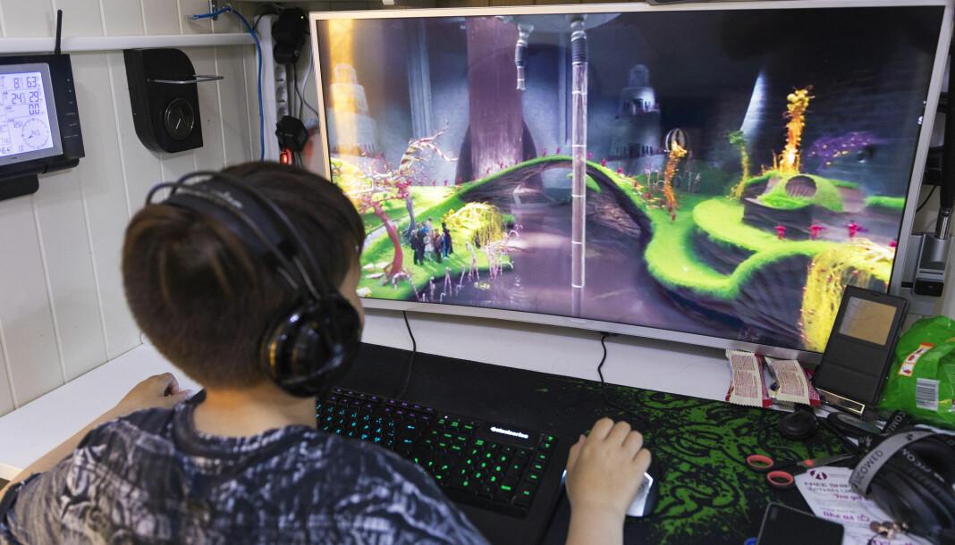Barn og unge brukte i gjennomsnitt en time og 20 minutter på digitale spill i fjor. Illustrasjonsfoto: Gorm Kallestad / NTB scanpix