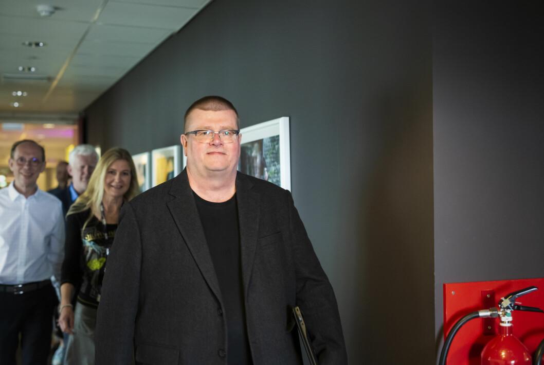 Forhandlingsleder Rolf Johansen fotografert i forbindelse med forhandlingene i 2019.