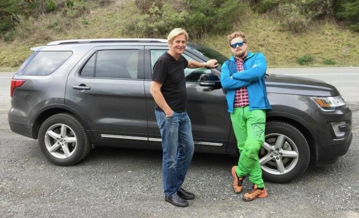 Bildet er av Anders Magnus og Lars Os som våren 2018 kjørte rundt for å lage en større sak om marihuana i California. Foto: Privat
