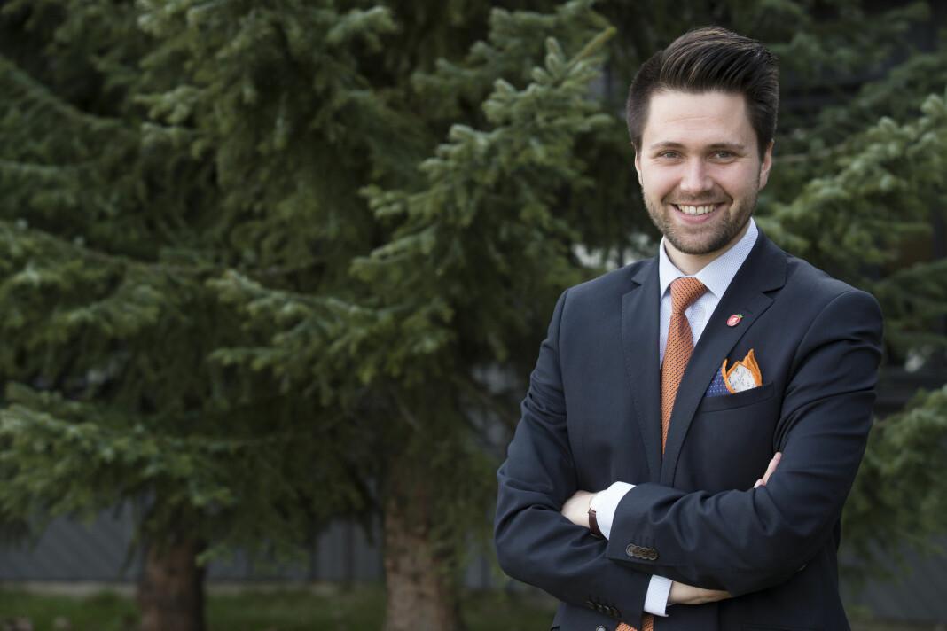 FpU- leder Bjørn-Kristian Svendsrud vil legge ned Medietilsynet. Foto: Terje Bendiksby / NTB scanpix
