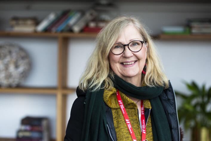 Anne Leppänen, grafisk journalist i avisa Kaleva i Finland. Foto: Kristine Lindebø