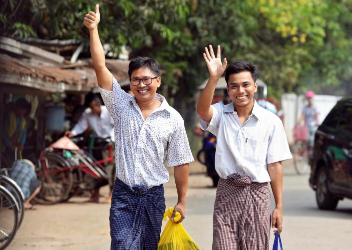 Reuters-journalister løslatt i Myanmar
