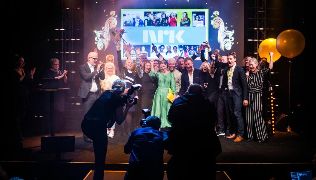 NRK vant den gjeveste prisen under Årets mediepriser i Bergen. Foto: Eskil Wie Furunes