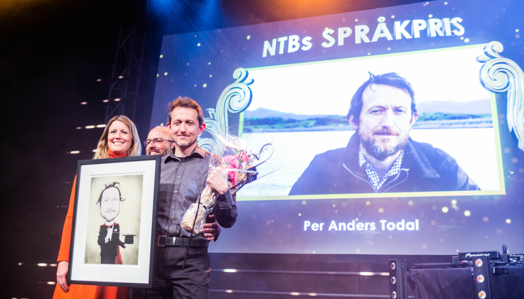 Journalist Per Anders Todal vant pris for språket sitt under Nordiske mediedager i Bergen. Foto: Eskil Wie Furunes