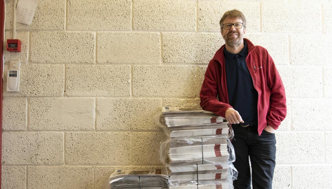 Embrik Luksengard går av som ansvarlig redaktør i Hallingdølen. Foto: Tuva Skare / Hallingdølen