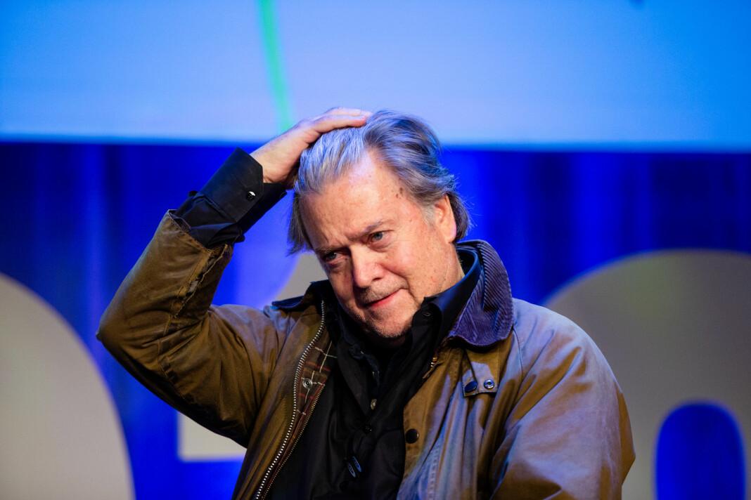 Tidligere konsernsjef i Breitbart, Steve Bannon, under Nordiske mediedager i Bergen. Foto: Eskil Wie Furunes