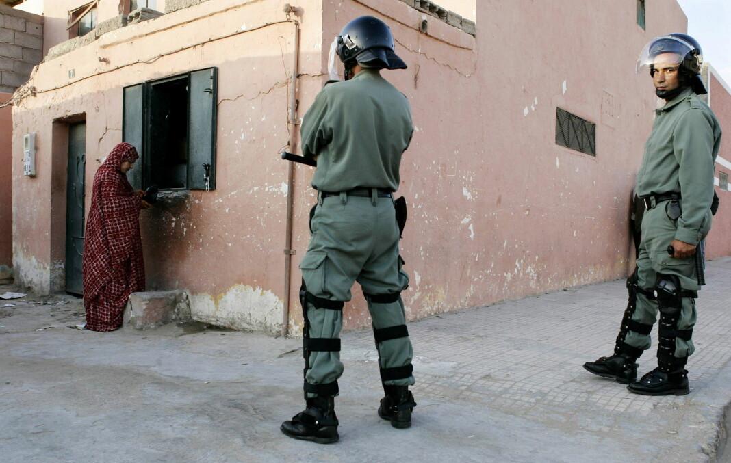Marrokansk politi på plass i El Aaiún. Arkivfoto: Reuters / NTB scanpix