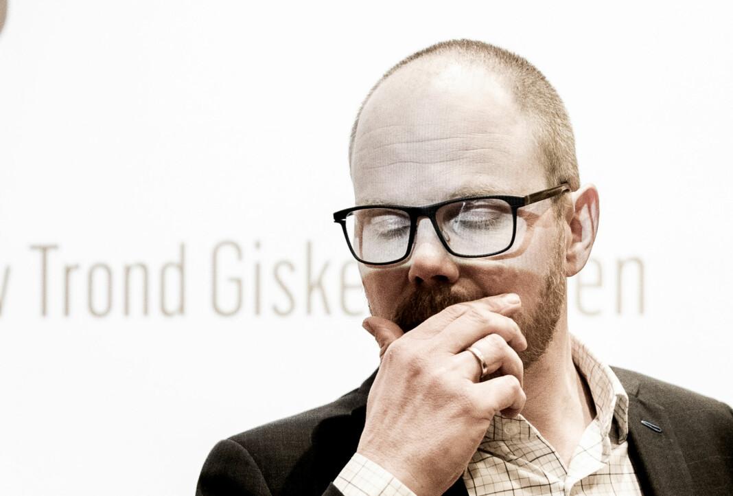 Sammenlignet med året før er det VG, her ved sjefredaktør Gard Steiro, som faller mest på årets omdømmemåling fra Kantar TNS. Foto: Berit Roald / NTB scanpix