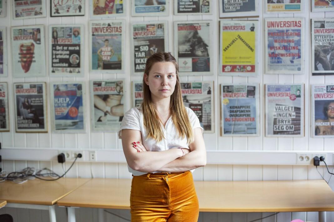 Selma Joner er ny redaktør i Universitas. Foto: Odin Drønen / Universitas