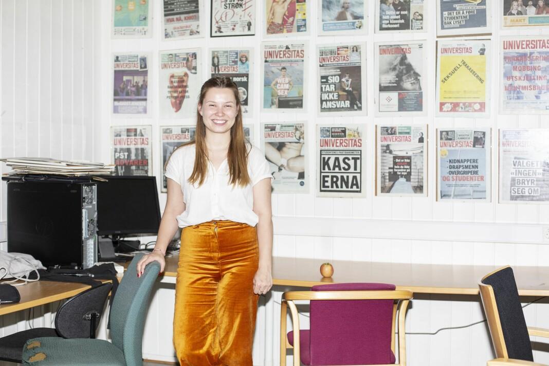 Selma Joner er ny redaktør i Norges største studentavis, Universitas, som dekker student-Oslo. Foto: Odin Drønen / Universitas