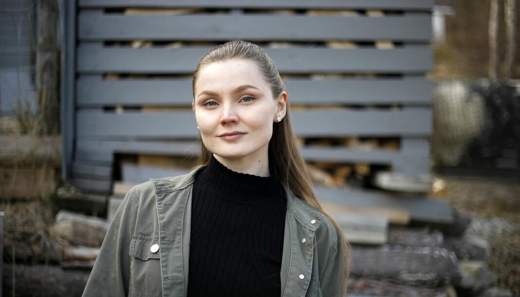 June Helén Bjørnback jobber i den samiske avisen Ságat. Foto: Privat