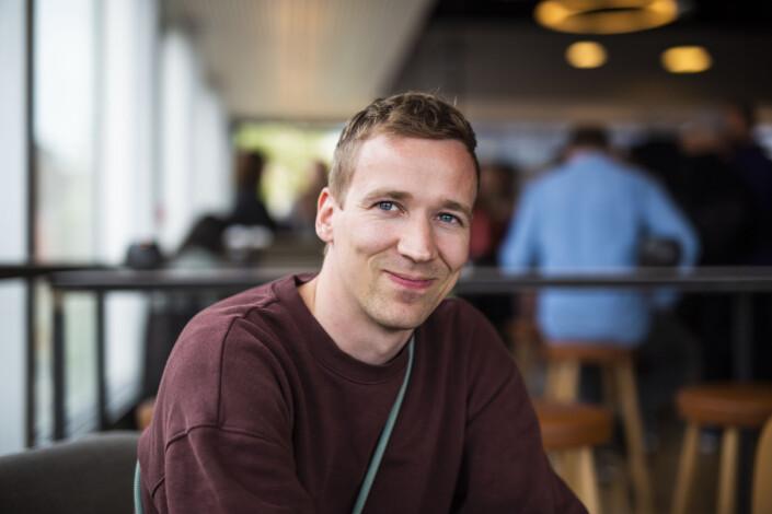 Morten Røyr er avgangsstudent ved fotojournalistikkutdanninga ved Oslomet. Foto: Kristine Lindebø