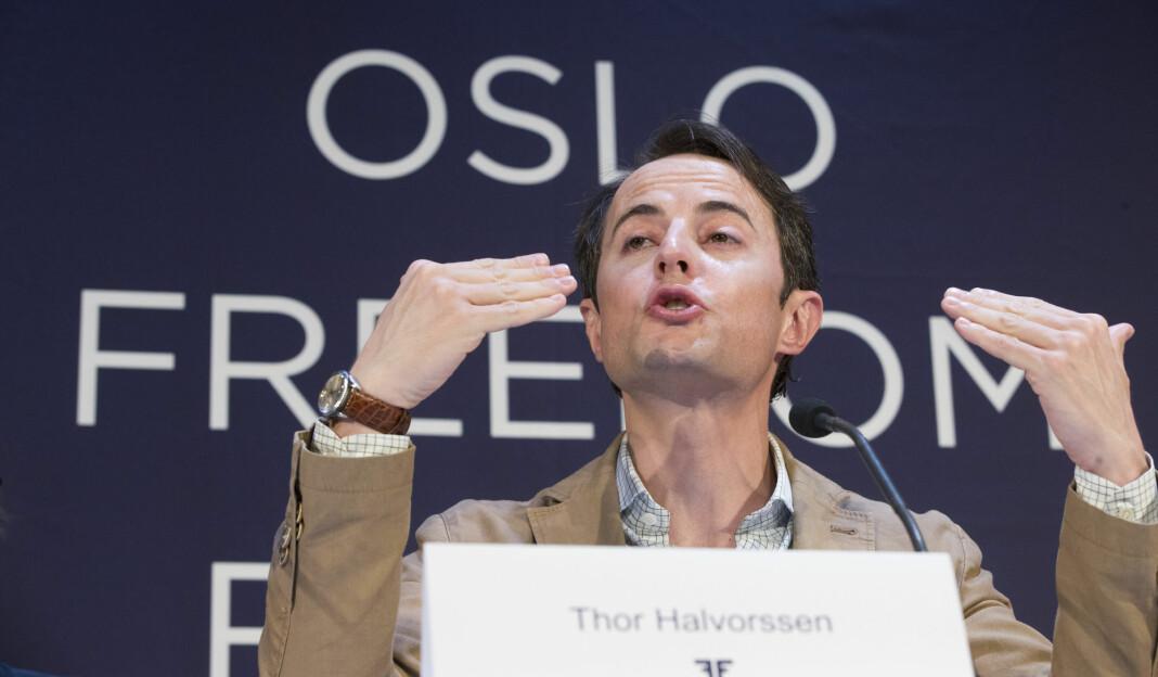 For ellevte gang arrangerer norsk-venezuelanske Thor Halvorssen Oslo Freedom Forum. Mandag går startskuddet for menneskerettighetskonferansen. Foto: Terje Pedersen / NTB scanpix