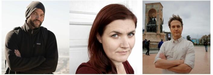 Maren Sæbø, Nilas Johnsen og Anders Sømme Hammer hedres for sin journalistikk om mennesker på flukt