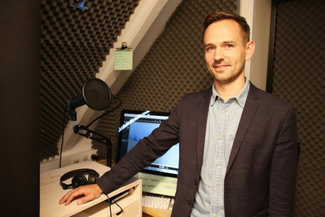Markedssjef Gregor Falkner i Dag og Tid har stor tro på avisas nye lydsatsing. Foto: Dag og Tid