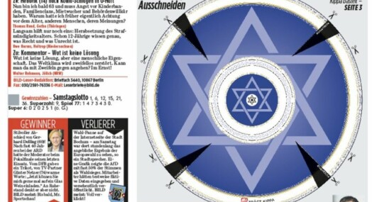 Tysk tabloid med kampanje mot jødehat: Trykket «klipp ut»-kalott i avisen