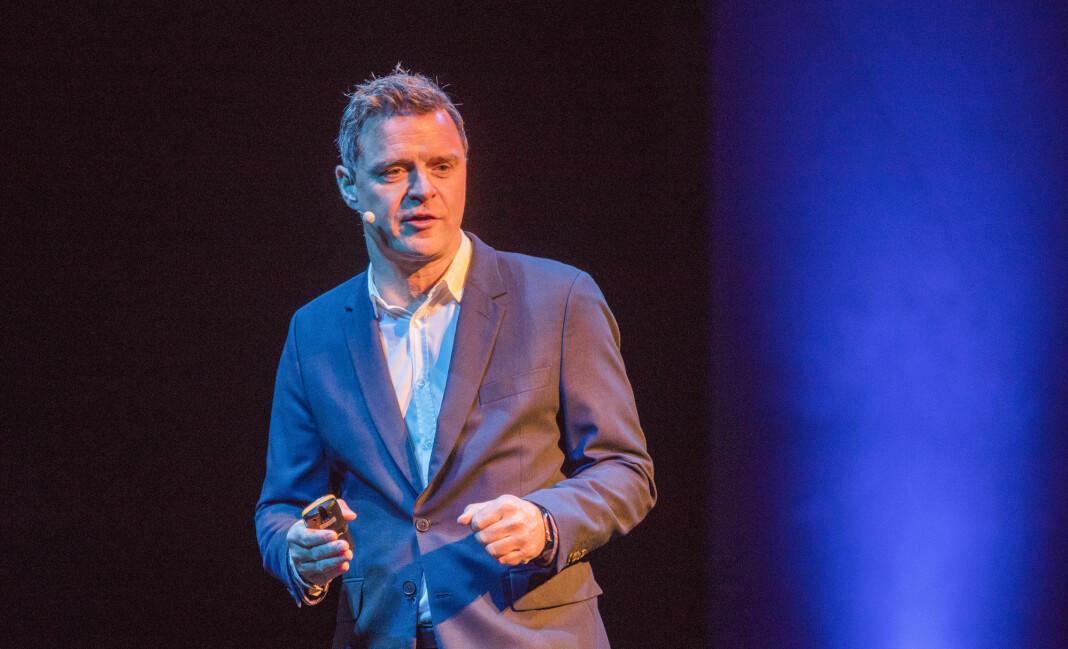 Aftenpostens årsresultat for 2018 endte på drøyt 100 millioner kroner. 10 prosent ned fra året før. Sjefredaktør Espen Egil Hansen er likevel ganske fornøyd. Foto: Terje Pedersen / NTB scanpix