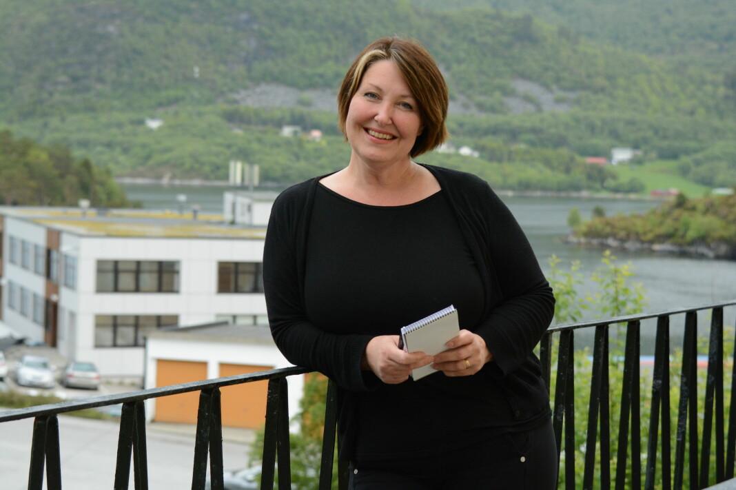 Janne Kristin Rossvoll Falch er ny journalist i avisa Nordre. Foto: Hilde Beate Ellingsæter