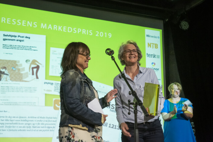 Fagpressens markedspris 2019 går til Psykisk helse. Foto: Kristine Lindebø