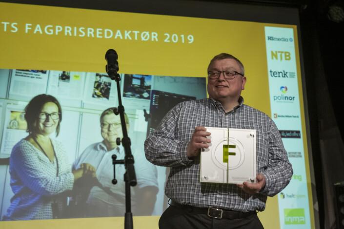 Årets fagpresseredaktør 2019 er Ole Petter Pedersen, for hans redaktørgjerning i Kommunal Rapport. Nå i TU.no. Foto: Kristine Lindebø
