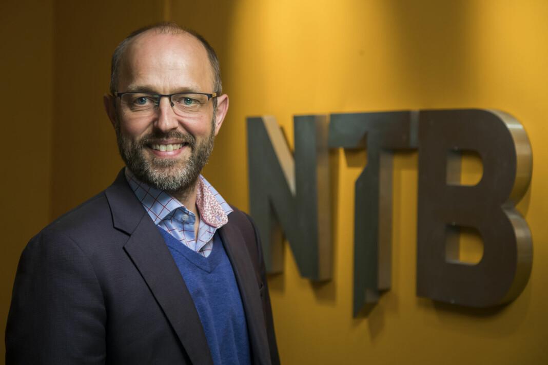 – Vi har over tid jobbet for å synliggjøre at NTB er viktig for mediemangfoldet, sier NTB-sjef Mads Yngve Storvik. Foto: Heiko Junge / NTB scanpix