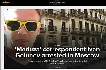 Kjent russisk gravejournalist siktet for narkohandel