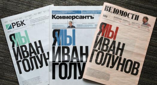 Russiske aviser støtter narkosiktet journalist