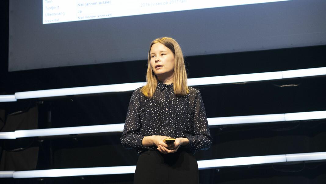I løpet av august skal Maria Mikkelsen være på plass som VGs reporter i New York. Bildet er tatt på Power of Journalism-konferansen tidligere i år. Foto: Roger Aarli-Grøndalen