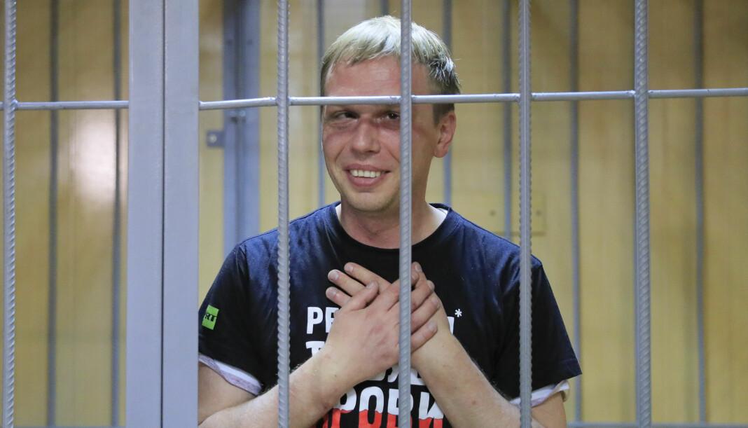 Siktelsene mot den kjente russiske gravejournalisten Ivan Golunov er frafalt. Foto: Reuters / NTB scanpix