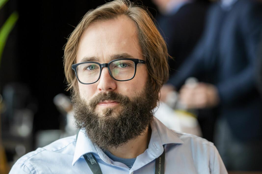 Filter Nyheter og redaktør Harald S. Klungtveit jobber med å få ferdig sin første papirutgave.