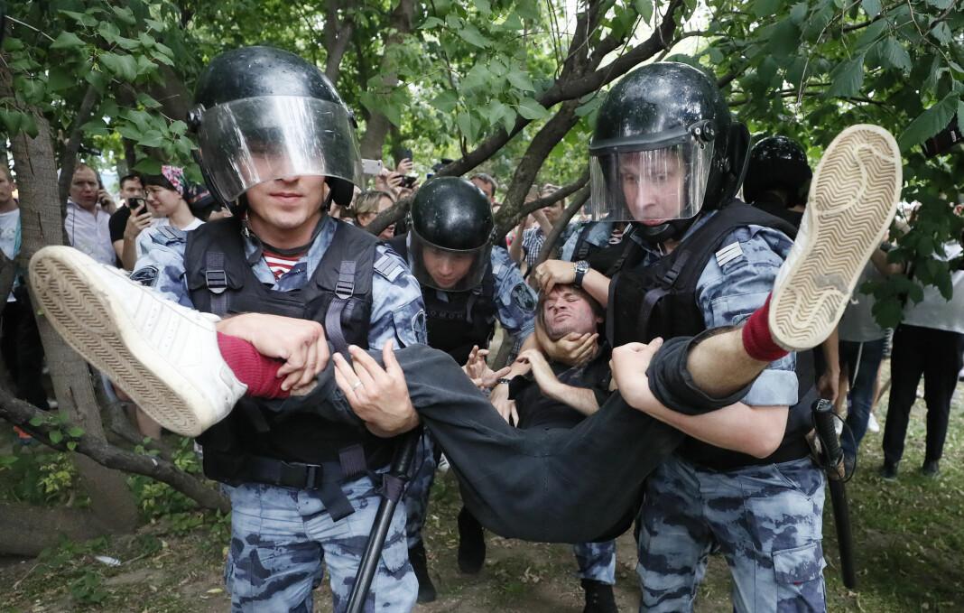 Siktelsen av gravejournalisten Ivan Golunov utløste dagens demonstrasjoner i Moskva. Foto: Reuters / NTB scanpix