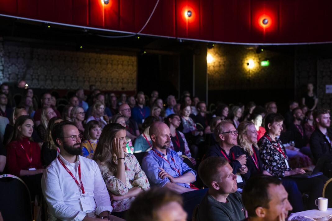 350 deltakere, gjester og foredragsholdere er samlet på Fortellingens kraft-konferansen i Bergen. Foto: Kristine Lindebø