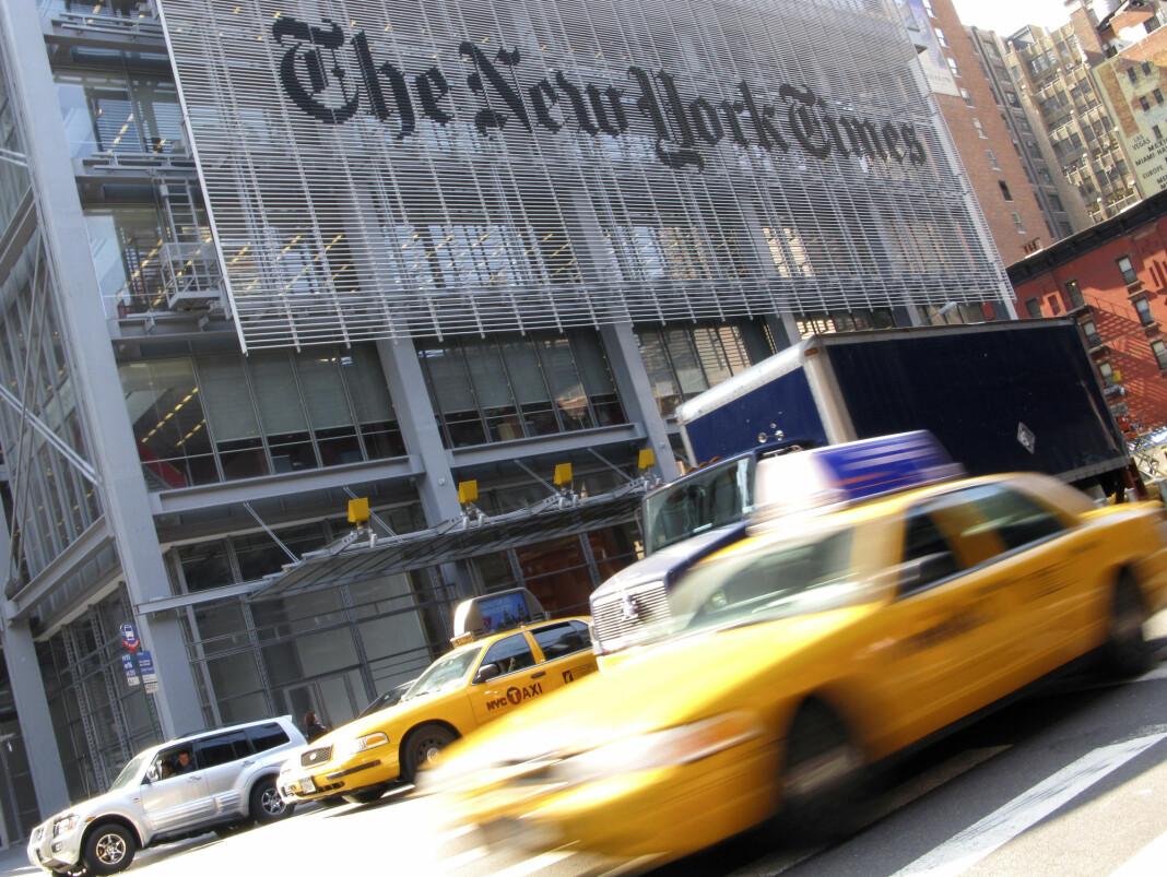 – Dette er faktisk forræderi av en avis, som en gang var stor, som er desperat etter en sak, skriver president Trump på Twitter. Foto: Reuters / NTB scanpix