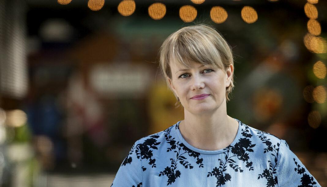 NRK-profilen Sigrid Sollund er nominert til Årets programleder. Foto: Julia Marie Naglestad / NRK