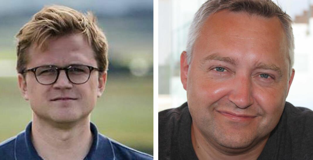 Øystein Kløvstad Langberg (til venstre) blir USA-korrespondent for Aftenposten. I valgkampen og under valget vil Kjetil Hanssen også bidra på New York-kontoret. Foto: Aftenposten