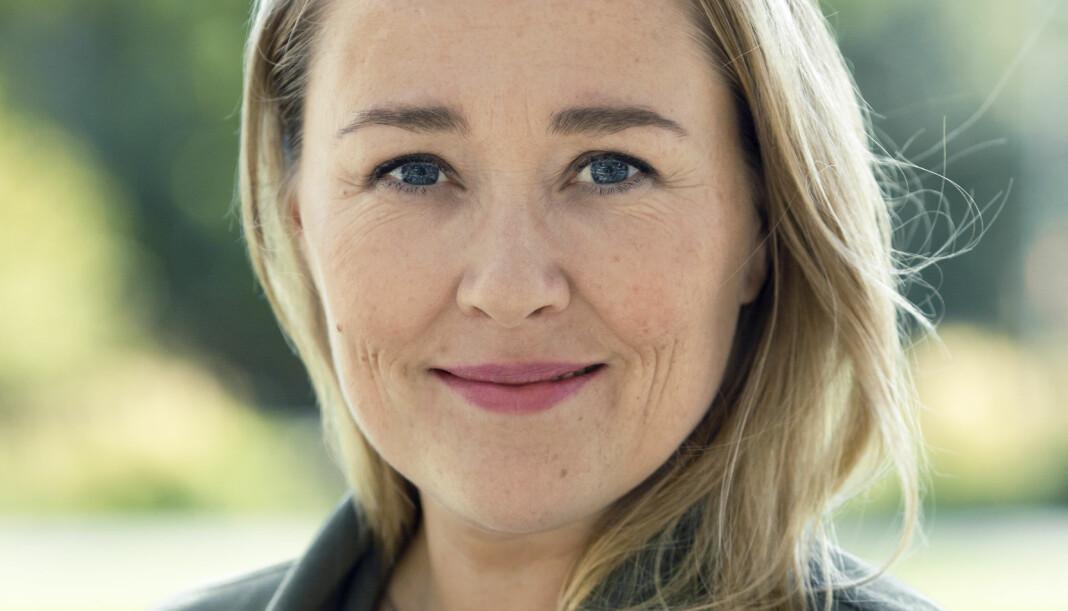 40 år gamle Birgitte Hoff Lysholm er ansatt som redaksjonssjef i Sol.no-satsingen Vi.no. Foto: Astrid Waller