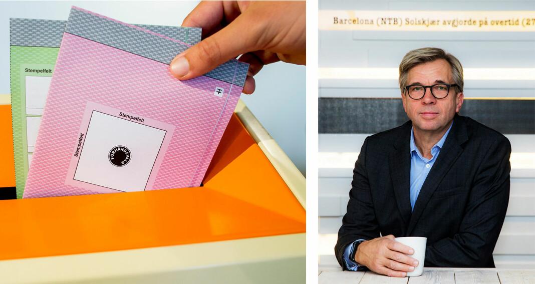 – Dette kan bidra til å gi framtidige velgere et nyansert forhold til politikk og til politikere, sier utviklingsdirektør Geir Terje Ruud i NTB. Foto: NTB scanpix