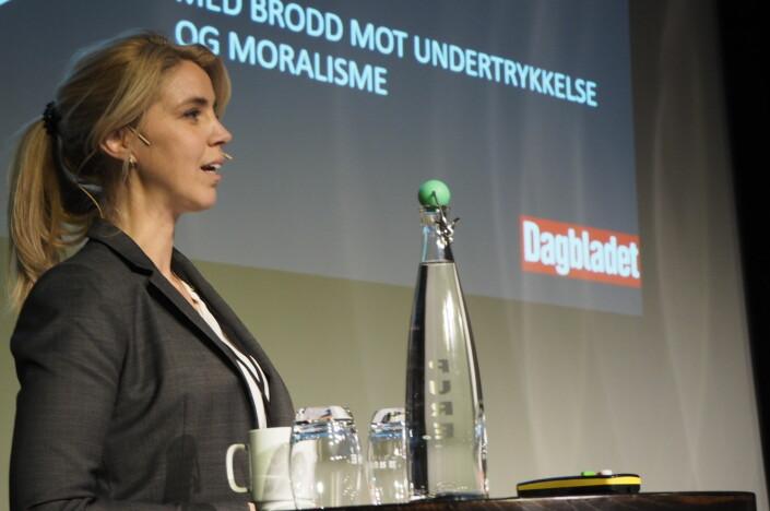 – Det er ulike ting som fungerer på ulike plattformer, sier Dagbladet-redaktør Alexandra Beverfjord. Arkivfoto: Roger Aarli-Grøndalen