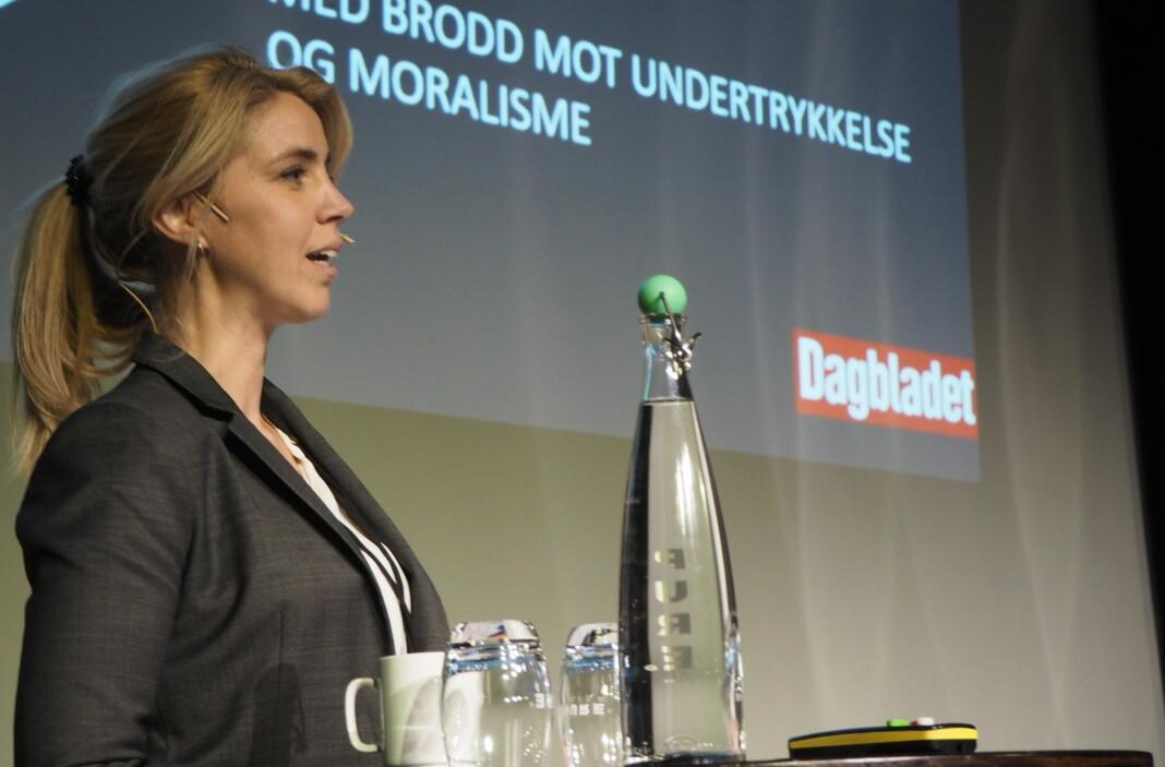 Medieklagenemnda har behandlet klage fra Dagbladet Pluss. Her Dagbladet-redaktør Alexandra Beverfjord.