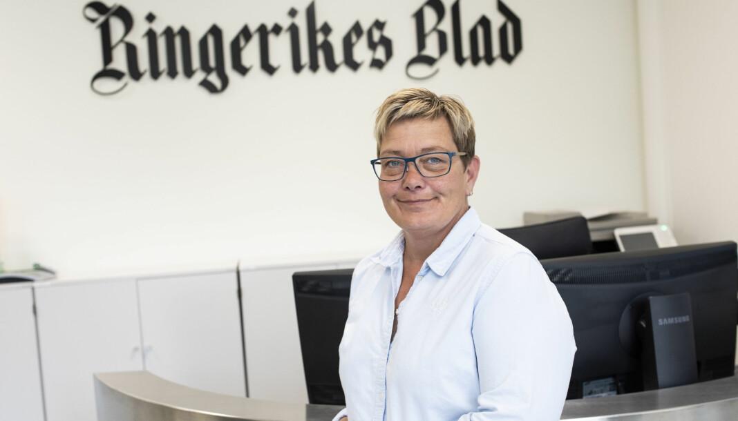 Avisen Hadeland mister sin redaktør når Sissel Skjervum Bjerkehagen går til Ringerikes Blad. Foto: Ole Edvin Tangen / Ringerikes Blad