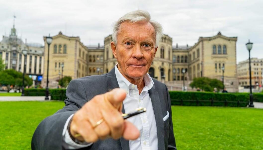 Den berømte pekefingeren til Oddvar Stenstrøm blir snart å se på Dagbladet TV. Foto: Per Ervland / Dagbladet