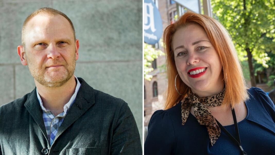 Frank Rossavik blir kulturkommentator i Aftenposten. Cecilie Asker rykker opp og blir kulturredaktør. Foto: Aftenposten.