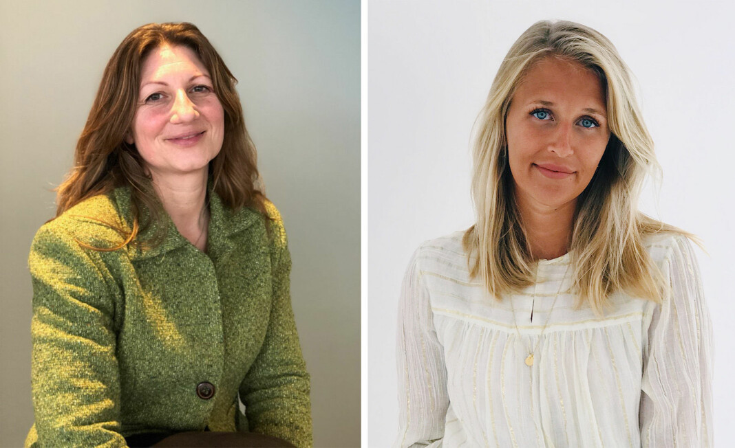 Elisabeth Tøtte Hansen (t.v.) og Tuva Skei Tønset i faste stillinger i NRK Buskerud. Foto: NRK