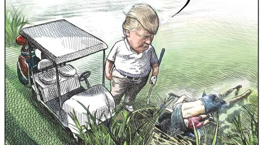 Avistegner mistet jobben like etter tegning av Donald Trump gikk viralt