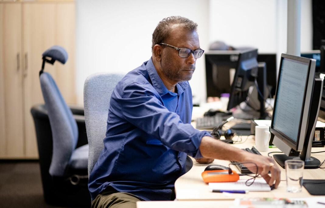 Rajan Chelliah saksøkte NRK fordi han mistet jobben i NRK Østlandssendingen. Her fra da han hadde sin siste dag på jobben i juli i fjor.