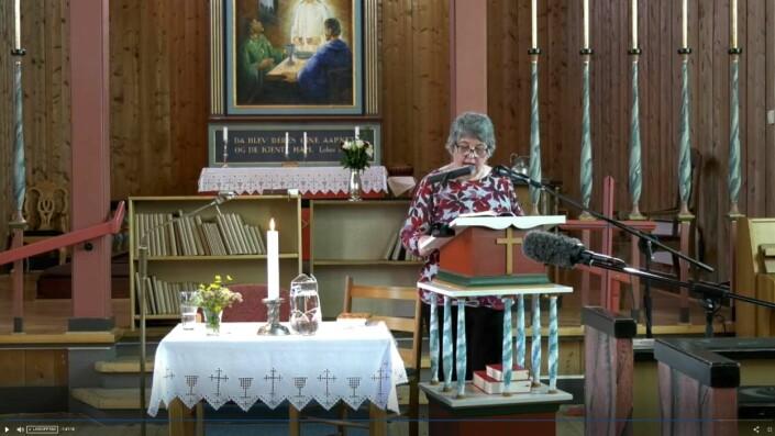 Frivillige bytter på å lese Bibelen direkte på VOL. Skjermdump fra VOL.no