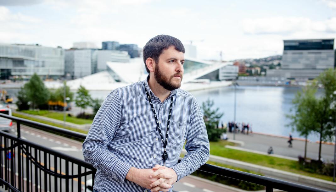 Ryan Kelly har de siste månedene levd i Norge, hvor han har jobbet for NTB og holdt foredrag om bildet som vant Pulitzer-pris. Foto: Eskil Wie Furunes