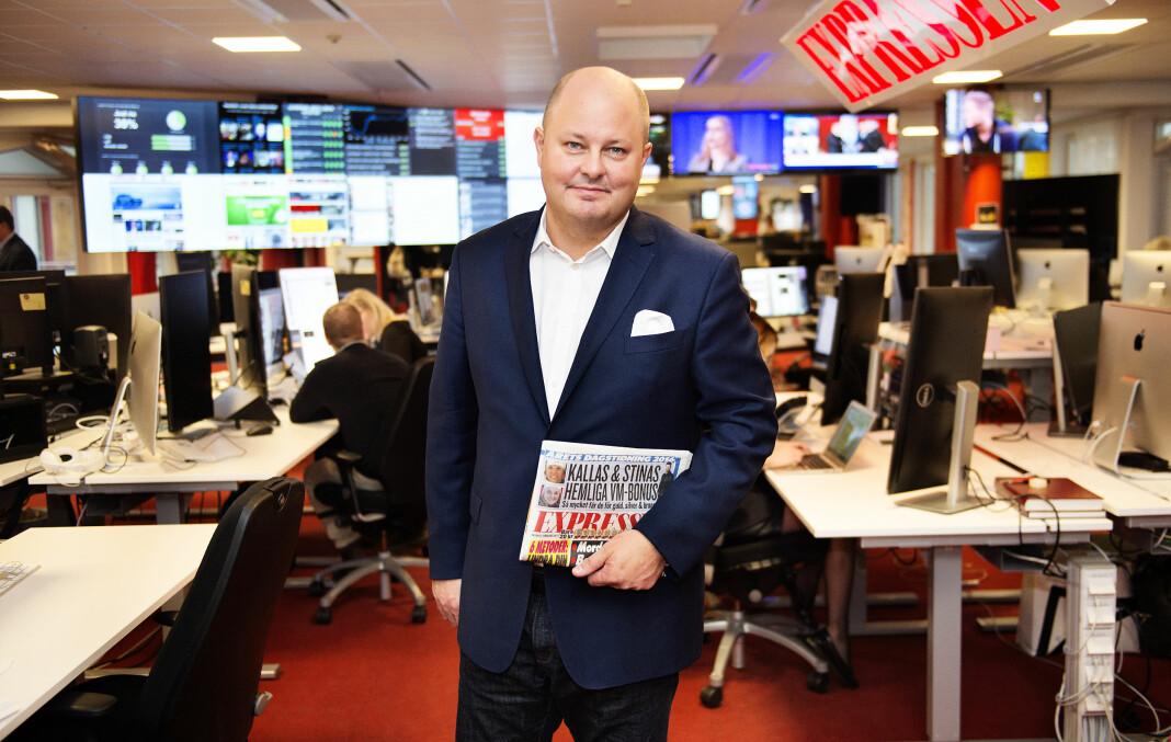 Sjefredaktør Thomas Mattsson gir seg i Expressen. Foto: Anna-Karin Nilsson / Expressen